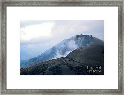 Lava From Puu Oo Vent, Kilauea, Hawaii Framed Print by Gregory G. Dimijian, M.D.