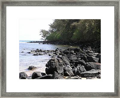 Lava Rocks Framed Print by Mary Deal