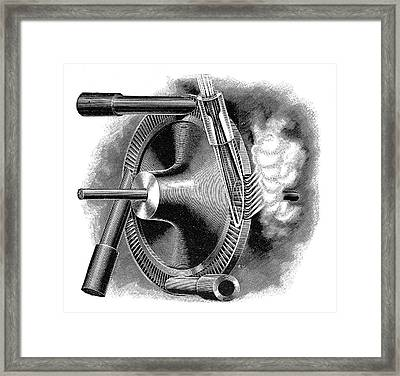 Laval Turbine Framed Print by Science Photo Library