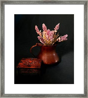Lavender And Copper Framed Print by Grace Dillon
