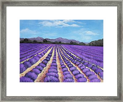 Lavender Field In Provence Framed Print by Anastasiya Malakhova