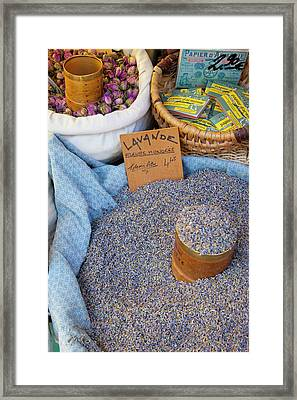 Lavender For Sale At Market Day Framed Print by Brian Jannsen