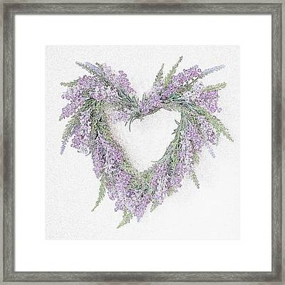 Lavender Heart Framed Print by Sharon Lisa Clarke