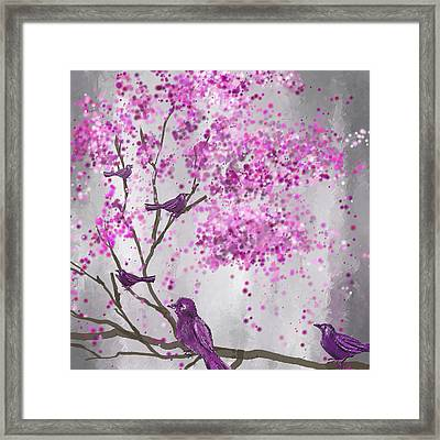 Lavender Leisure- Lavender Wall Art Framed Print by Lourry Legarde