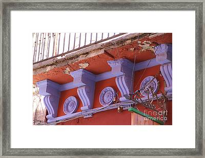 Lavender Moulding Guanajuato Framed Print by Linda Queally