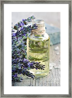 Lavender Oil Framed Print by Mythja  Photography