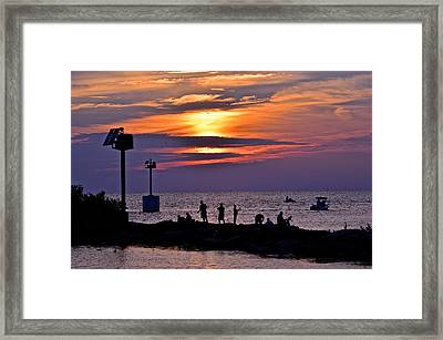 Lavender Sunset Framed Print by Frozen in Time Fine Art Photography