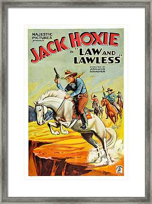 Law And The Lawless, Jack Hoxie Framed Print by Everett
