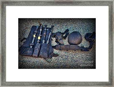 Law Enforcement -swat Gear - Entry Tools Framed Print by Paul Ward