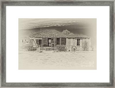 Law West Of Pecos Framed Print by Erika Weber