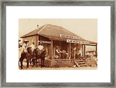 Law West Of The Pecos Framed Print by Pg Reproductions