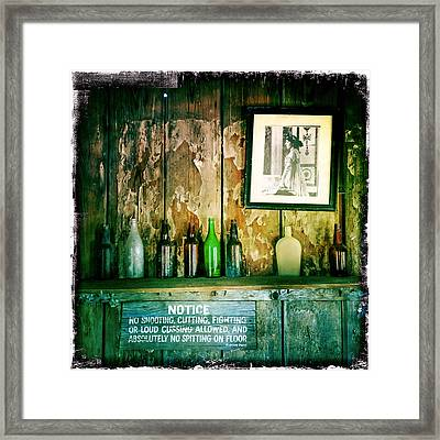 Law West Of The Pecos Framed Print by Randy Green