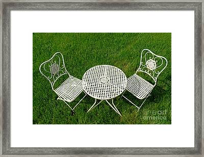 Lawn Furniture Framed Print by Olivier Le Queinec