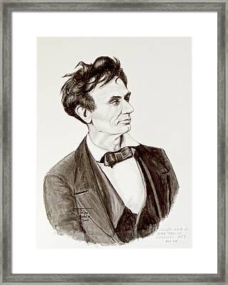 Lawyer Abe Lincoln  Framed Print by Art By - Ti   Tolpo Bader
