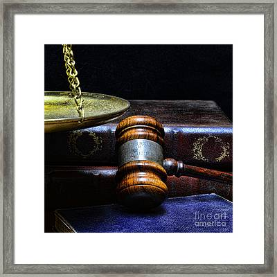 Lawyer - Books Of Justice Framed Print by Paul Ward