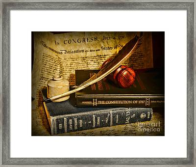 Lawyer - The Constitutional Lawyer Framed Print by Paul Ward