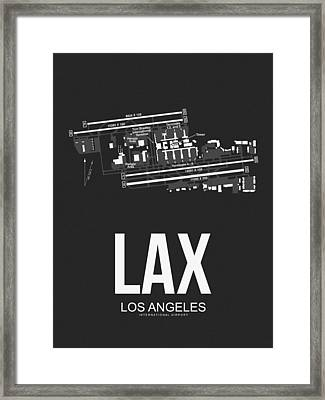Lax Los Angeles Airport Poster 3 Framed Print by Naxart Studio