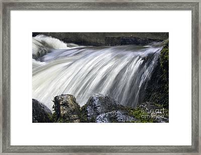 Lazerne Falls Cascade Framed Print by Darleen Stry