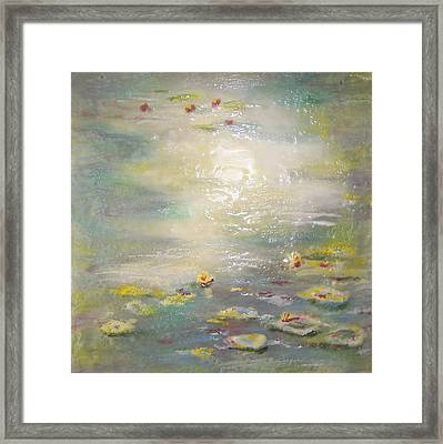 Lazing Lilies Framed Print by Victoria Primicias