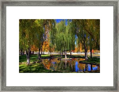 Lazy Days Of Autumn Framed Print by Donna Kennedy