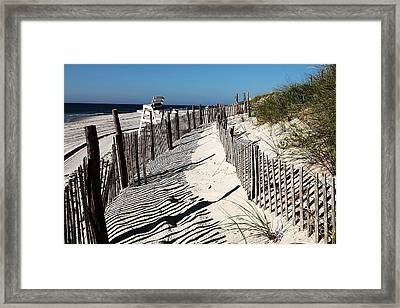 Lbi Dunes Framed Print by John Rizzuto