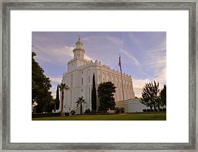 Lds Temple St George Utah Framed Print by Nathan Abbott