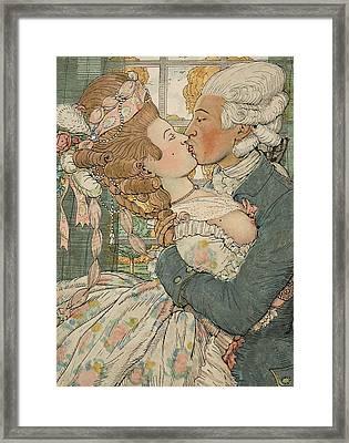 Le Baiser Framed Print by Konstantin Andreevic Somov