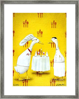 Le Bistro... Framed Print by Will Bullas