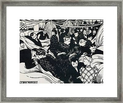 Le Bon Marche Framed Print by Felix Edouard Vallotton