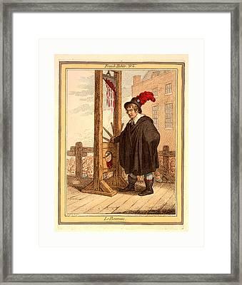 Le Boureau, Gillray, James, 1756-1815, Engraving 1798 Framed Print by English School