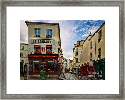 Le Consulat Framed Print by Inge Johnsson
