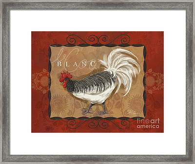 Le Coq Rooster Blanc Framed Print by Shari Warren