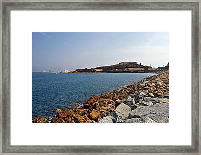 Le Fort Carre - Antibes - France Framed Print by Christine Till