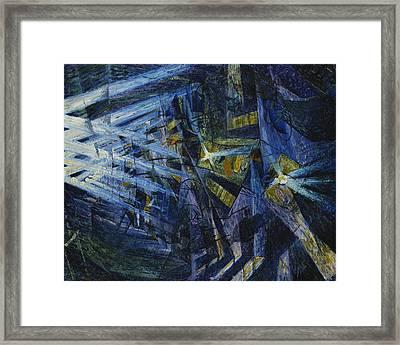 Le Forze Di Una Strada Framed Print by Umberto Boccioni