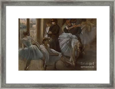 Le Foyer De L'opera Framed Print by Edgar Degas