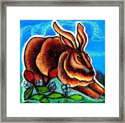 Le Grande Lapin Framed Print by Genevieve Esson
