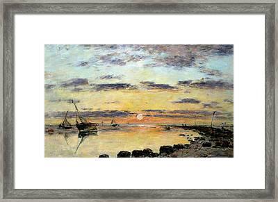 Le Havre Framed Print by Eugene Louis Boudin