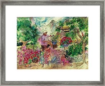 Le Jardiniere Framed Print by Elaine Elliott