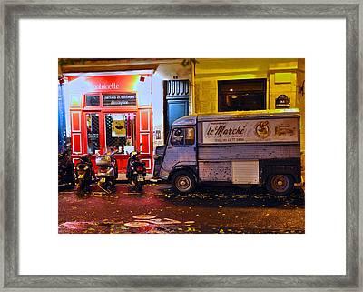 Le Marche Van Framed Print by Matt MacMillan