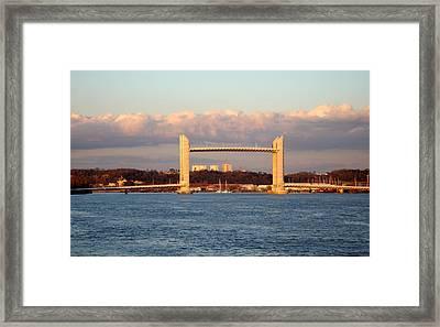 Le Pont Chaban Delmas Bordeaux  Framed Print by Bishopston Fine Art