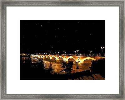 Le Pont De Pierre  Framed Print by Bishopston Fine Art
