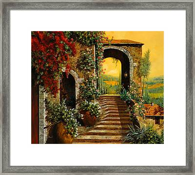 Le Scale   Framed Print by Guido Borelli