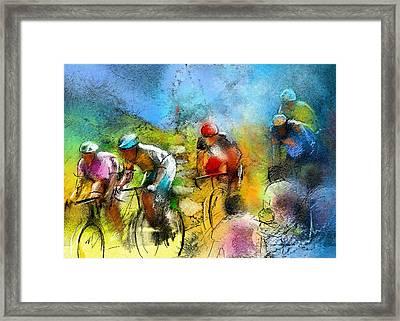 Le Tour De France 01 Framed Print by Miki De Goodaboom