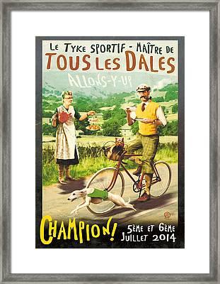 Le Tyke Sportif Framed Print by Alex Tomlinson