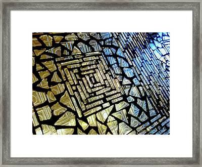 Leaded Glass Framed Print by Donna Blackhall
