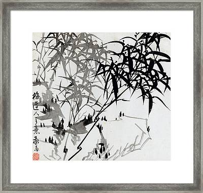 Leaf F Framed Print by Rang Tian