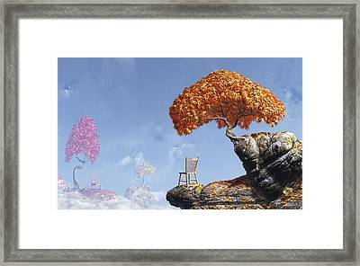 Leaf Peepers Framed Print by Cynthia Decker