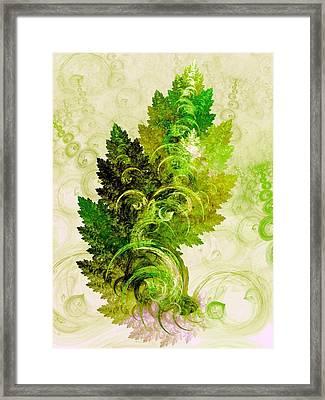 Leaf Reflection Framed Print by Anastasiya Malakhova