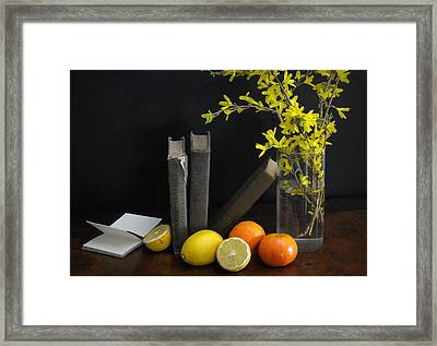 Lean Framed Print by Diana Angstadt