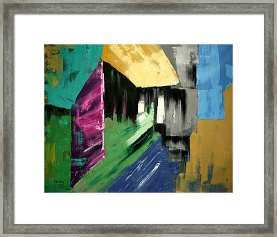 Lean Not On Your Own Understanding Framed Print by Anthony Falbo